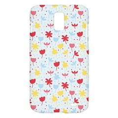 Seamless Colorful Flowers Pattern Samsung Galaxy S II Skyrocket Hardshell Case