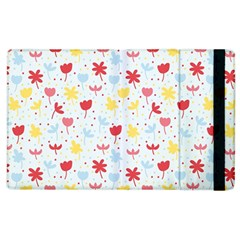 Seamless Colorful Flowers Pattern Apple iPad 2 Flip Case