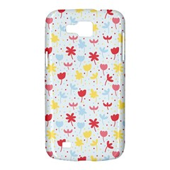 Seamless Colorful Flowers Pattern Samsung Galaxy Premier I9260 Hardshell Case
