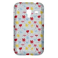 Seamless Colorful Flowers Pattern Samsung Galaxy Ace Plus S7500 Hardshell Case