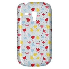 Seamless Colorful Flowers Pattern Samsung Galaxy S3 Mini I8190 Hardshell Case