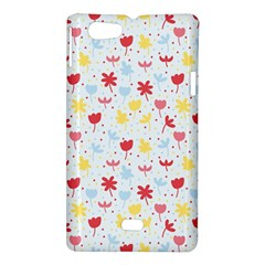 Seamless Colorful Flowers Pattern Sony Xperia Miro
