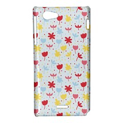 Seamless Colorful Flowers Pattern Sony Xperia J