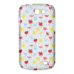Seamless Colorful Flowers Pattern Samsung Galaxy Express I8730 Hardshell Case