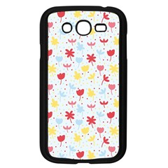 Seamless Colorful Flowers Pattern Samsung Galaxy Grand Duos I9082 Case (black)