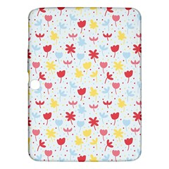 Seamless Colorful Flowers Pattern Samsung Galaxy Tab 3 (10.1 ) P5200 Hardshell Case
