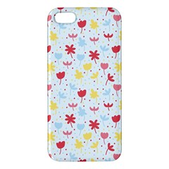 Seamless Colorful Flowers Pattern iPhone 5S/ SE Premium Hardshell Case