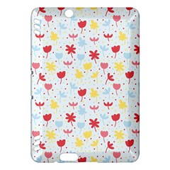 Seamless Colorful Flowers Pattern Kindle Fire HDX Hardshell Case