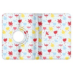 Seamless Colorful Flowers Pattern Kindle Fire HDX Flip 360 Case
