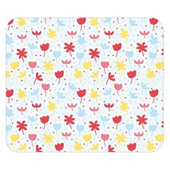 Seamless Colorful Flowers Pattern Double Sided Flano Blanket (Small)