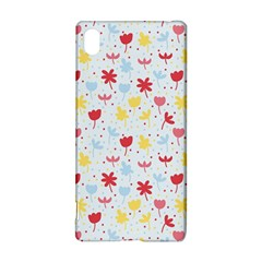 Seamless Colorful Flowers Pattern Sony Xperia Z3+