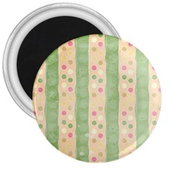 Seamless Colorful Dotted Pattern 3  Magnets