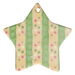 Seamless Colorful Dotted Pattern Ornament (star)