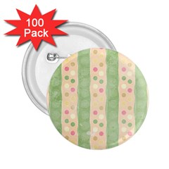 Seamless Colorful Dotted Pattern 2.25  Buttons (100 pack)