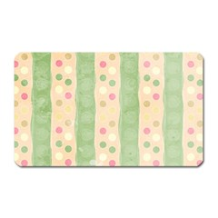 Seamless Colorful Dotted Pattern Magnet (Rectangular)