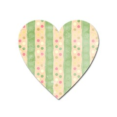 Seamless Colorful Dotted Pattern Heart Magnet