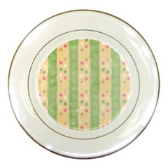 Seamless Colorful Dotted Pattern Porcelain Plates