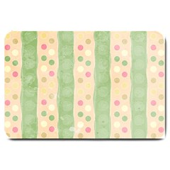 Seamless Colorful Dotted Pattern Large Doormat