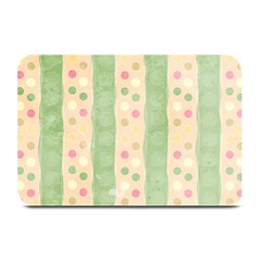 Seamless Colorful Dotted Pattern Plate Mats