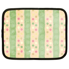Seamless Colorful Dotted Pattern Netbook Case (Large)