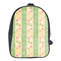 Seamless Colorful Dotted Pattern School Bags(Large)