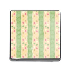 Seamless Colorful Dotted Pattern Memory Card Reader (Square)