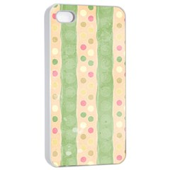 Seamless Colorful Dotted Pattern Apple Iphone 4/4s Seamless Case (white)