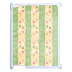 Seamless Colorful Dotted Pattern Apple iPad 2 Case (White)