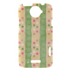 Seamless Colorful Dotted Pattern HTC One X Hardshell Case