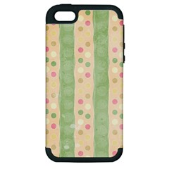 Seamless Colorful Dotted Pattern Apple iPhone 5 Hardshell Case (PC+Silicone)