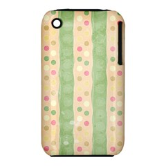 Seamless Colorful Dotted Pattern Apple iPhone 3G/3GS Hardshell Case (PC+Silicone)
