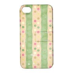 Seamless Colorful Dotted Pattern Apple iPhone 4/4S Hardshell Case with Stand