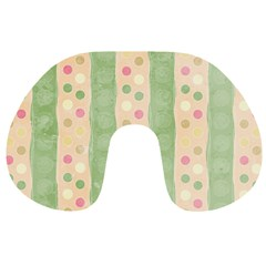 Seamless Colorful Dotted Pattern Travel Neck Pillows
