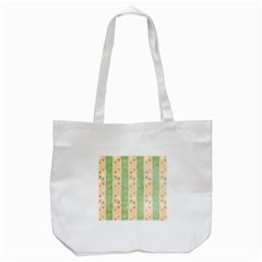 Seamless Colorful Dotted Pattern Tote Bag (White)