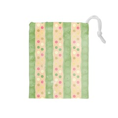 Seamless Colorful Dotted Pattern Drawstring Pouches (Medium)