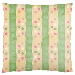 Seamless Colorful Dotted Pattern Large Flano Cushion Case (Two Sides)