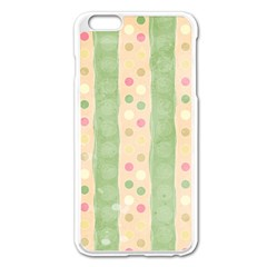 Seamless Colorful Dotted Pattern Apple iPhone 6 Plus/6S Plus Enamel White Case