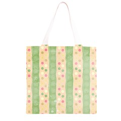 Seamless Colorful Dotted Pattern Grocery Light Tote Bag