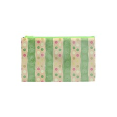Seamless Colorful Dotted Pattern Cosmetic Bag (XS)