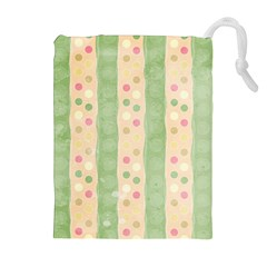 Seamless Colorful Dotted Pattern Drawstring Pouches (Extra Large)