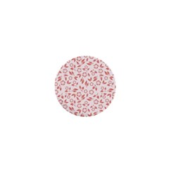 Red Seamless Floral Pattern 1  Mini Buttons