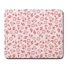 Red Seamless Floral Pattern Large Mousepads