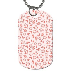 Red Seamless Floral Pattern Dog Tag (two Sides)