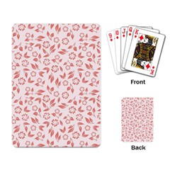 Red Seamless Floral Pattern Playing Card