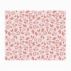 Red Seamless Floral Pattern Small Glasses Cloth (2 Side)