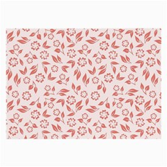 Red Seamless Floral Pattern Large Glasses Cloth (2-Side)
