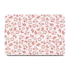Red Seamless Floral Pattern Plate Mats