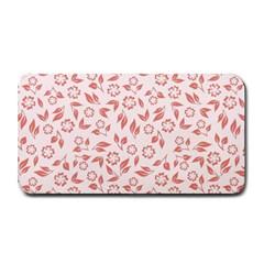 Red Seamless Floral Pattern Medium Bar Mats