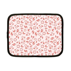 Red Seamless Floral Pattern Netbook Case (small)