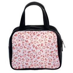 Red Seamless Floral Pattern Classic Handbags (2 Sides)